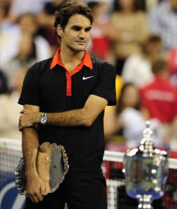 Roger Federer has to settle for the runner-up trophy after losing to Juan Martin del Potro.