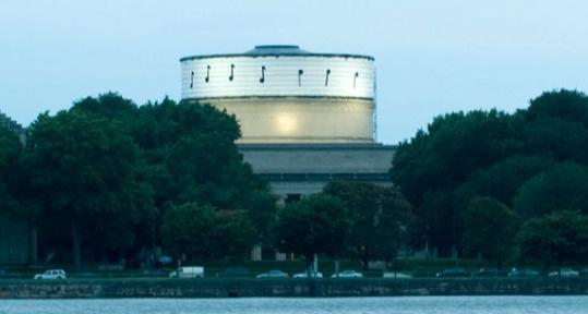 """Under cover of night, a person or persons unknown installed the first seven notes of a Rick Astley tune on the Great Dome at MIT. This is not the first time the dome has been """"hacked.''"""