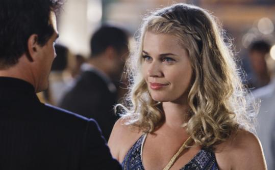"Rebecca Romijn plays a sexy, widowed artist in ""Eastwick'' and Paul Gross the mysterious man who ruffles the little town."