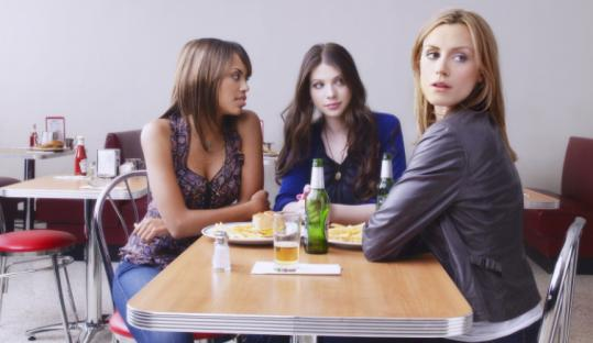"From left: Jaime Lee Kirchner, Michelle Trachtenberg, and Taylor Schilling play nurses on ""Mercy.''"