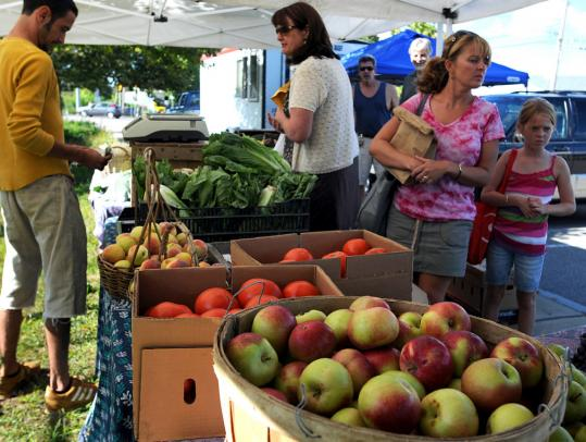 Silverbrook Farm in Dartmouth is one of the produce vendors at the Bridgewater farmers' market that started this summer. The organizers make sure the wares are local and natural.