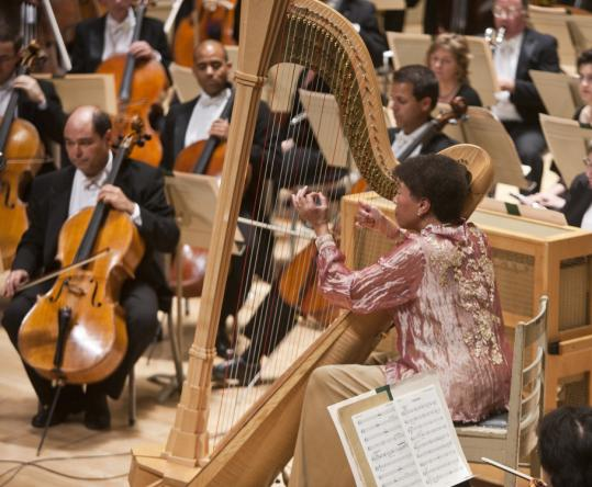 The BSO honored Ann Hobson Pilot, the former principal harpist who retired this summer after a four-decade career with the orchestra.