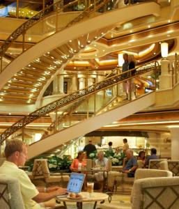 The redesigned Atrium on the Golden Princess.
