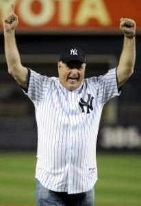 Panama's president, Ricardo Martinelli, threw out the ceremonial first pitch, and apparently it was a strike.