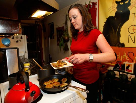 Emily Judd, shown making dinner at home, was hoping to take advantage of an incentive program for first-time home buyers.
