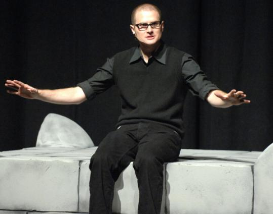 Rob Bell likens his sermons to performance art, or stand-up comedy.