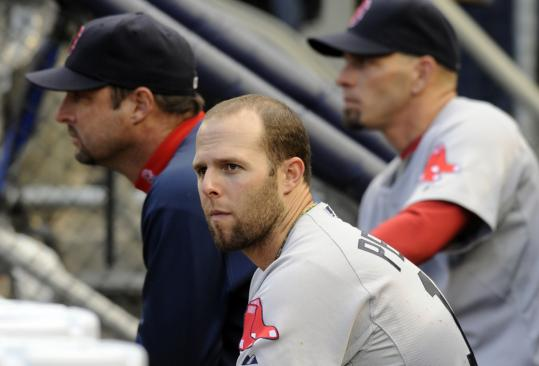 After the Dustin Pedroia and the Red Sox were swept by the Yankees, they watched them celebrate winning their AL East title.