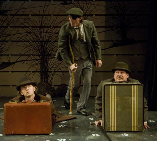 "From left: Ryan Winkles, Josh Aaron McCabe, and Jonathan Croy star in ""The Hound of the Baskervilles.''"