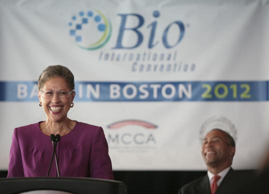 Susan Windham-Bannister, president of the Massachusetts Life Sciences Center, helped welcome news that the BIO International Convention is coming to Boston.
