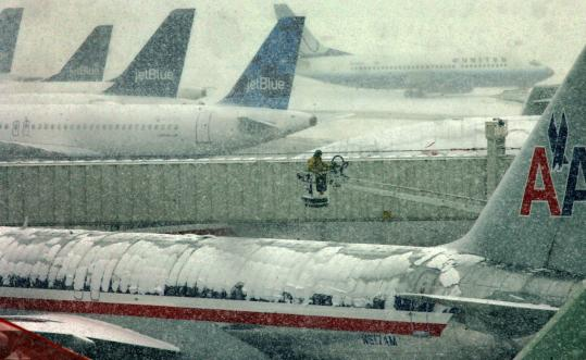 "Under an EPA proposal, Logan International is among six of the largest US airports that would have to install deicing ""pads'' or other collection systems to contain 60 percent of fluid sprayed."