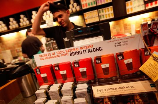Bob Goldin, of Technomic Inc., said Starbucks faces hurdles with Via: price (nearly $1 a cup) and instant coffee's image.