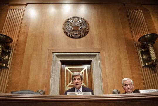 Senator John F. Kerry, chairman of the Senate Foreign Relations Committee, presided over a hearing about strategies for Afghanistan and Pakistan this spring.