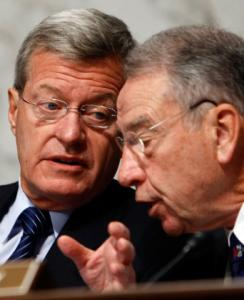 Senators Max Baucus (left) and Charles Grassley.