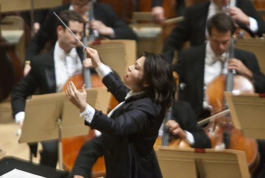 Boston Symphony Orchestra assistant conductor Shi-Yeon Sung's leadership was impressively crisp, clear, and elegant.