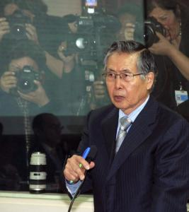 Peru's former president Alberto Fujimori, who is 71 and ailing, addressed the court after being sentenced yesterday.