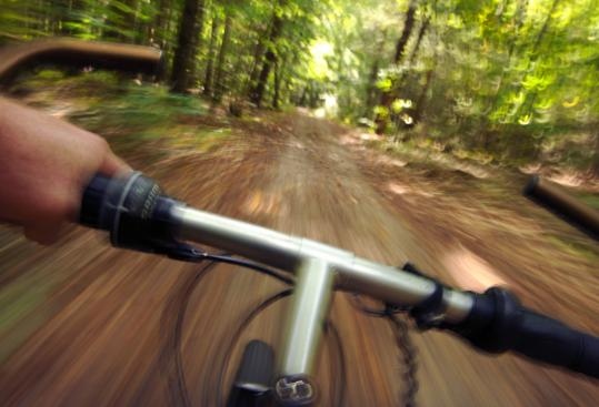Less than half an hour from Freeport, Maine, a biker could find a new favorite outlet on a double-track trail at Bradbury Mountain State Park in Pownal.