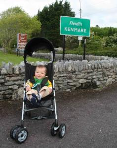 The author's 1-year-old son on his maiden trans-Atlantic trip, to Kenmare, County Kerry, in the southwest of Ireland.