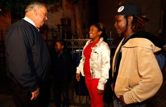 A hallmark of Mayor Thomas Menino's tenure has been his neighborhood visits, like this visit to Dorchester last month.