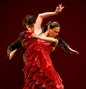 Charo Espino and her husband, Ángel Muñoz, in the Paco Peña Flamenco Dance Company.