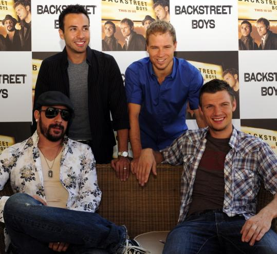 "The Backstreet Boys - (from left) A.J. McLean, Howie Dorough, Brian Littrell, and Nick Carter - are releasing its seventh album, ""This Is Us,'' today."