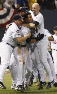 The Twins are one happy bunch after finally clinching the AL Central crown.