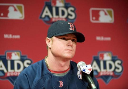 Jon Lester, the Red Sox starter for Game 1 tomorrow night, handled the obligatory media chores yesterday.