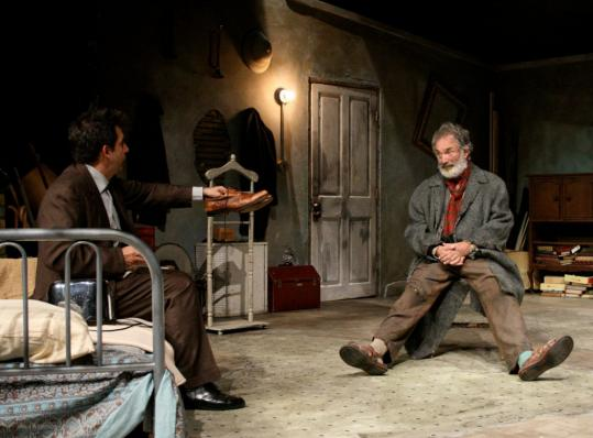 "John Kuntz (left) is Aston and Michael Balcanoff plays Davies in ""The Caretaker.''"