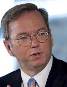 CEO Eric Schmidt said US and European markets improved.