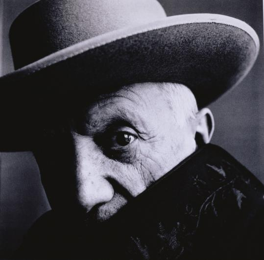 Irving Penn's portrait of Pablo Picasso in 1957.