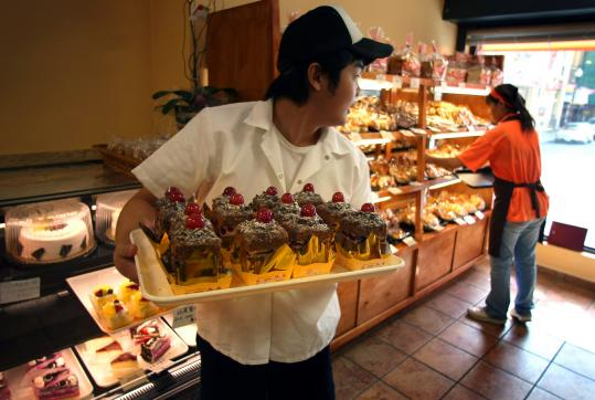 Leo Wang, 25, took a chance on starting his own business, 101 Bakery, on Beach Street in Chinatown.