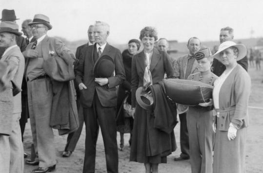Mayor James Edmund Burke, whose parents were Irish, hosted Amelia Earhart at the opening of a Burlington, Vt., airport.