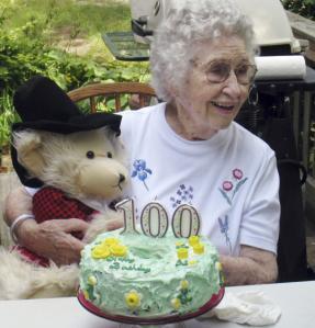 Elizabeth Barrow celebrated her 100th birthday last month. She enjoyed living at Brandon Woods Nursing Home, her son said.