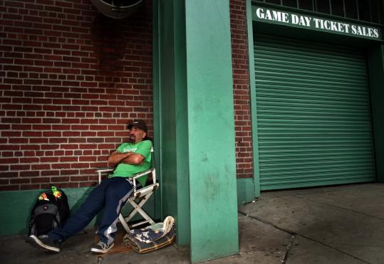 'I DON'T KNOW what it is. There should be a hundred people here, at least,'' said David Millette, who was the lone fan waiting outside Fenway Park yesterday to try to get tickets to today's game.