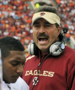 Boston College coach Frank Spaziani had many reasons to object to the play of his team, especially in the first half.