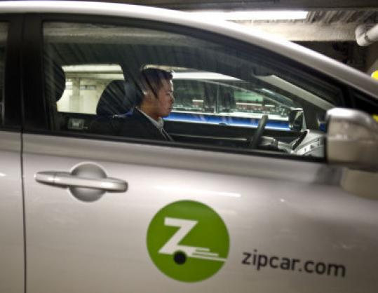 A customer zipped off in a Zipcar rental from James Court garage in Boston's South End last year.
