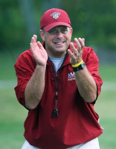 Upbeat Anna Maria coach Marc Klaiman isn't demoralized in the least by a string of lopsided losses in this first season.