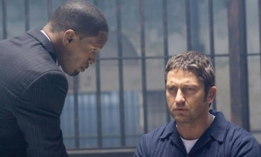 "Jamie Foxx and Gerard Butler star in the revenge thriller ""Law Abiding Citizen.''"