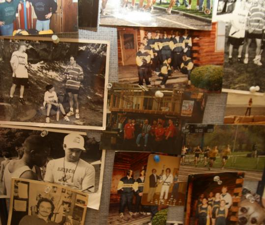 The life and times of Paul Szantyr are shown in a photo collage in his nursing home/hospital room.
