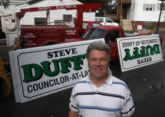 Lynn City Council candidate Stephen Duffy faces tax problems that stem, in part, from business troubles.