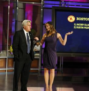 Initially, Jay Leno's new show - he chatted here with Jennifer Garner - had high ratings.