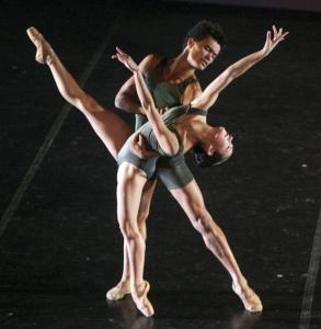 "Dancers perform the premiere of ""Over and Over,'' part of the ""Lunar Effects'' program at the Sanctuary Theatre."