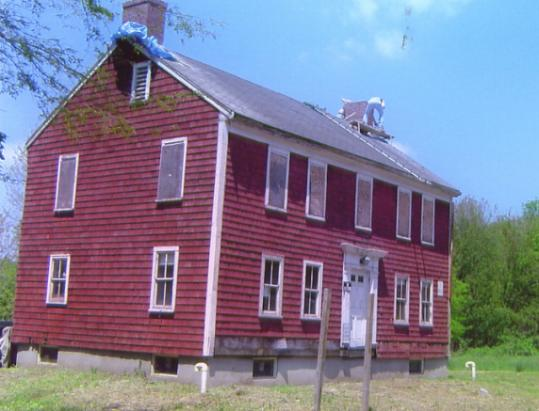 The 1812 Baker House in Westwood is being restored.