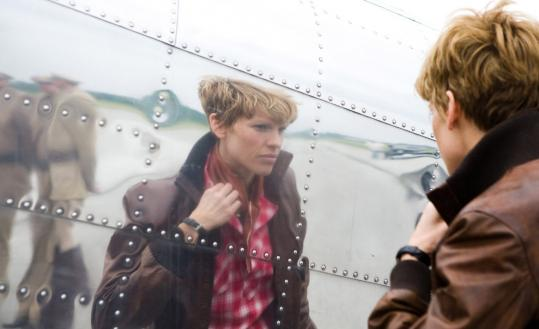 "Hilary Swank assumes the role of aviatrix Amelia Earhart in ""Amelia.''"