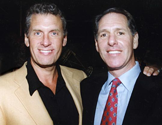 Hank Lewis (left) at his birthday celebration with his brother Alan in 1999, years before their business falling-out.