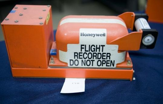 The cockpit voice recorder from Northwest Flight 188 is with the National Transportation Safety Board in Washington.
