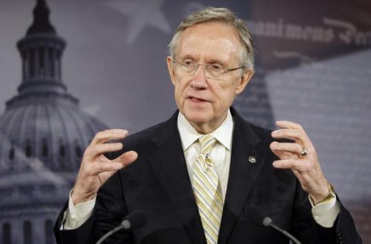 Senate Majority Leader Harry Reid, speaking yesterday on Capitol Hill, gave few details on the health insurance bill.