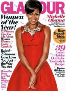 ON THE COVER - Michelle Obama is fashion's star, but that's not why she's one of Glamour's December cover models. Her work in mentoring earned her the spot. She'll receive a special recognition in the annual Women of the Year issue that goes on newsstands Nov. 10.