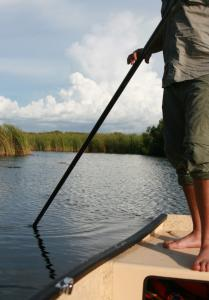 "Tour operator Jack Shealy negotiates the ""river of grass'' on a skiff just large enough for two people and a cooler."