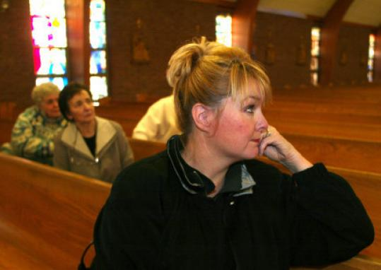 Maryellen Rogers at the church in 2004, when the vigil was begun.