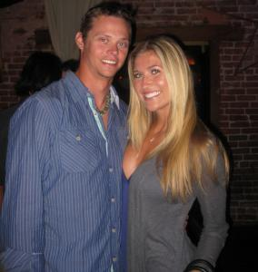 Red Sox pitcher Clay Buchholz and his bride-to-be Lindsay Clubine.